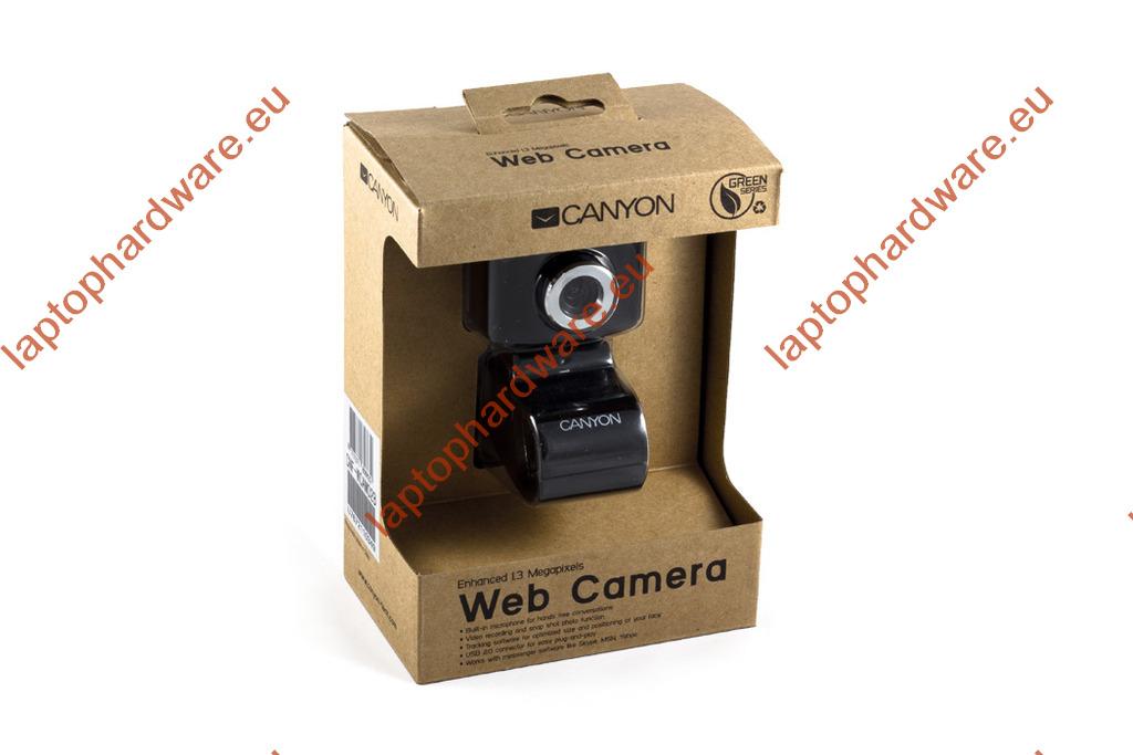 Canyon 1.3 megapixeles USB-s webkamera beépített mikrofonnal (CNF-WCAM02B)