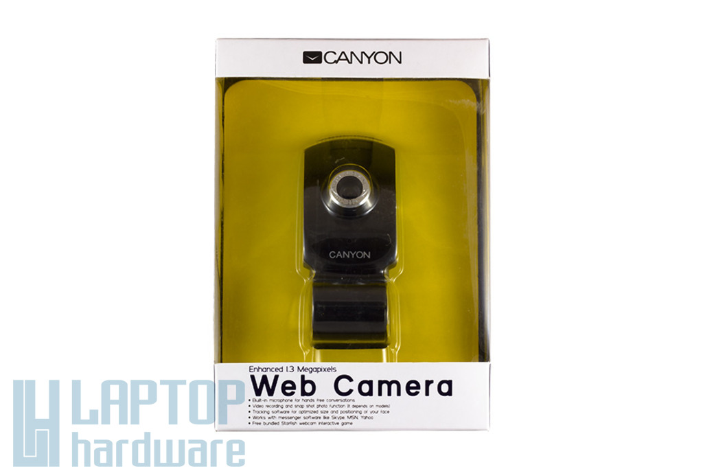 Canyon 1.3 megapixeles USB-s webkamera beépített mikrofonnal (CNR-WCAM413G1)