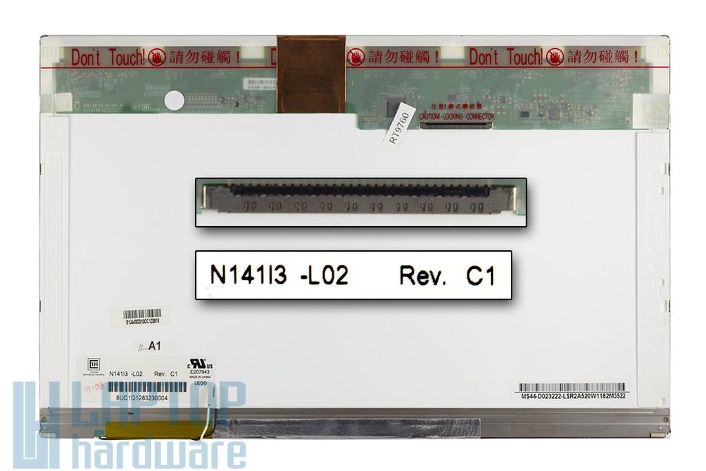 Chi Mei 14,1 inch CCFL WXGA használt fényes laptop LCD kijelző (N141I3-L02)