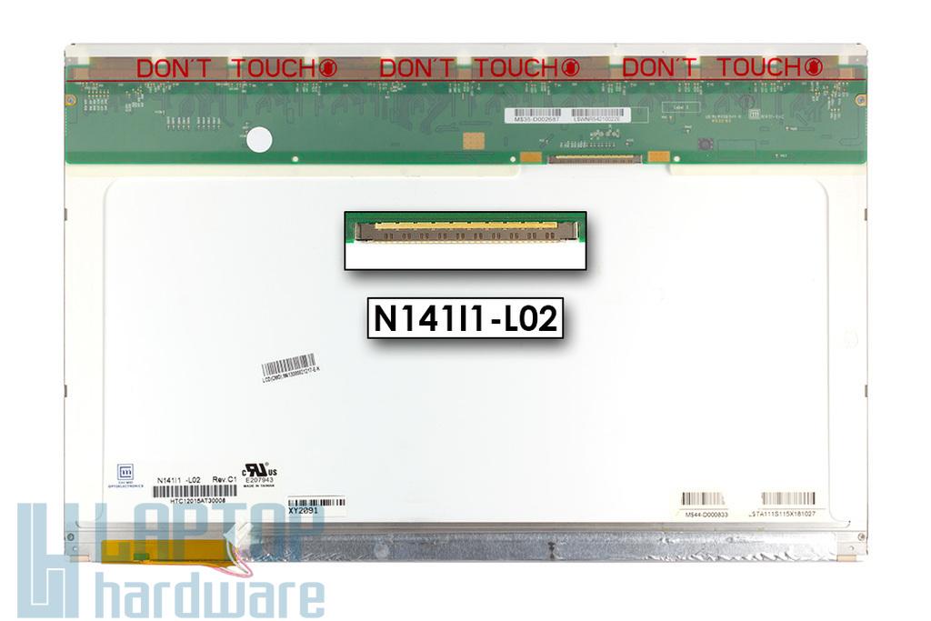 Chi Mei 14,1 inch CCFL WXGA használt matt laptop LCD kijelző (N141I1-L02)
