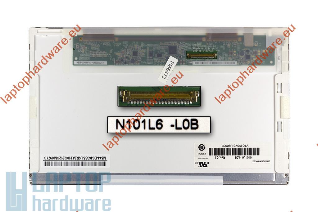 Chi Mei (N101L6-L0B) 1024x600 használt fényes laptop kijelző