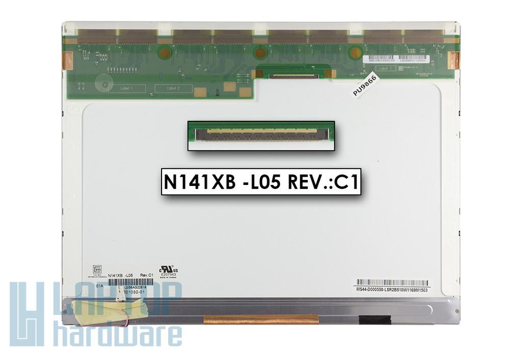 Chi Mei N141XB-L05 14,1'' XGA használt matt notebook kijelző