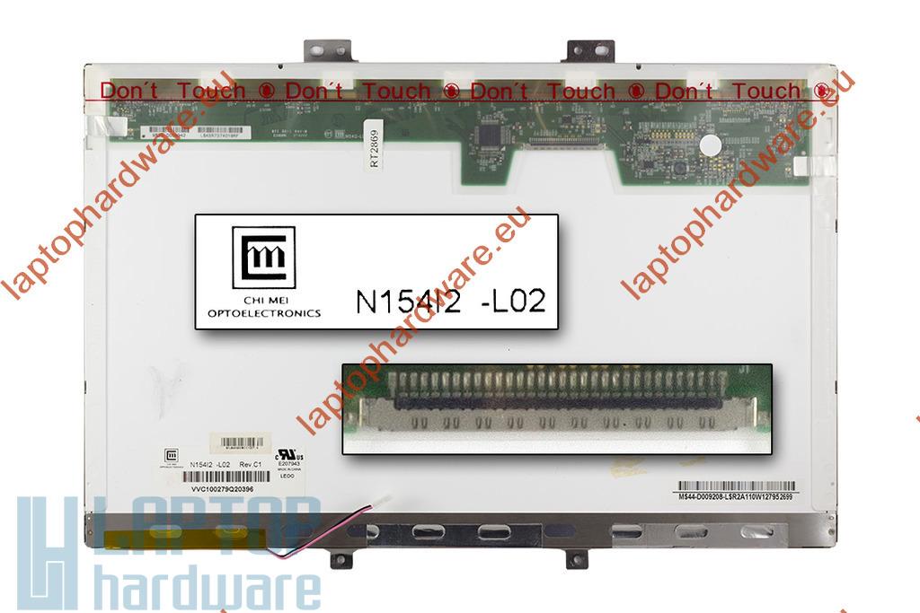 Chi-Mei N154I2-L01 Rev C2 15,4 inch WXGA (1280x800) CCFL használt B kategóriás matt laptop kijelző