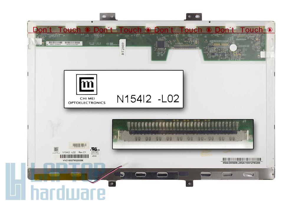 Chi-Mei N154I2-L02 15,4 '' WXGA (1280x800) CCFL használt B kategóriás fényes laptop kijelző