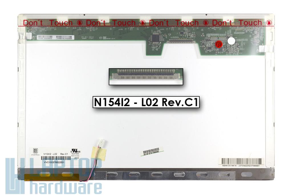 Chi-Mei N154I2-L02 Rev.C1 15,4 inch WXGA (1280x800) CCFL használt fényes laptop kijelző