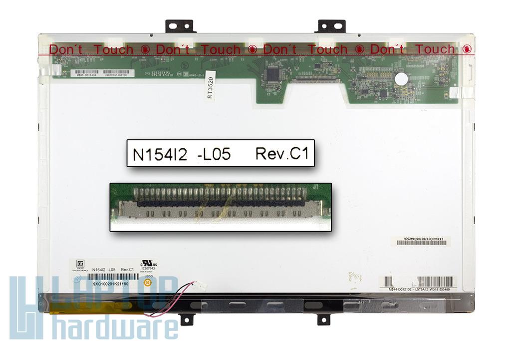 Chi-Mei N154I2-L05 15,4 inch WXGA CCFL használt fényes laptop kijelző