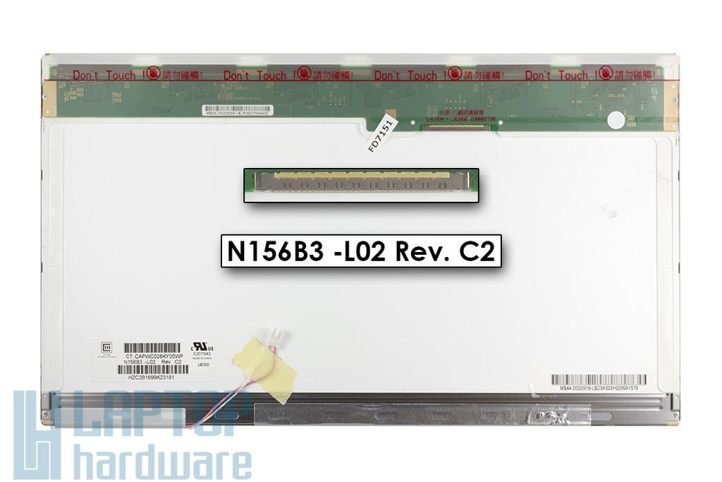 Chi-Mei N156B3 -L02 1366x768 használt fényes CCFL laptop kijelző