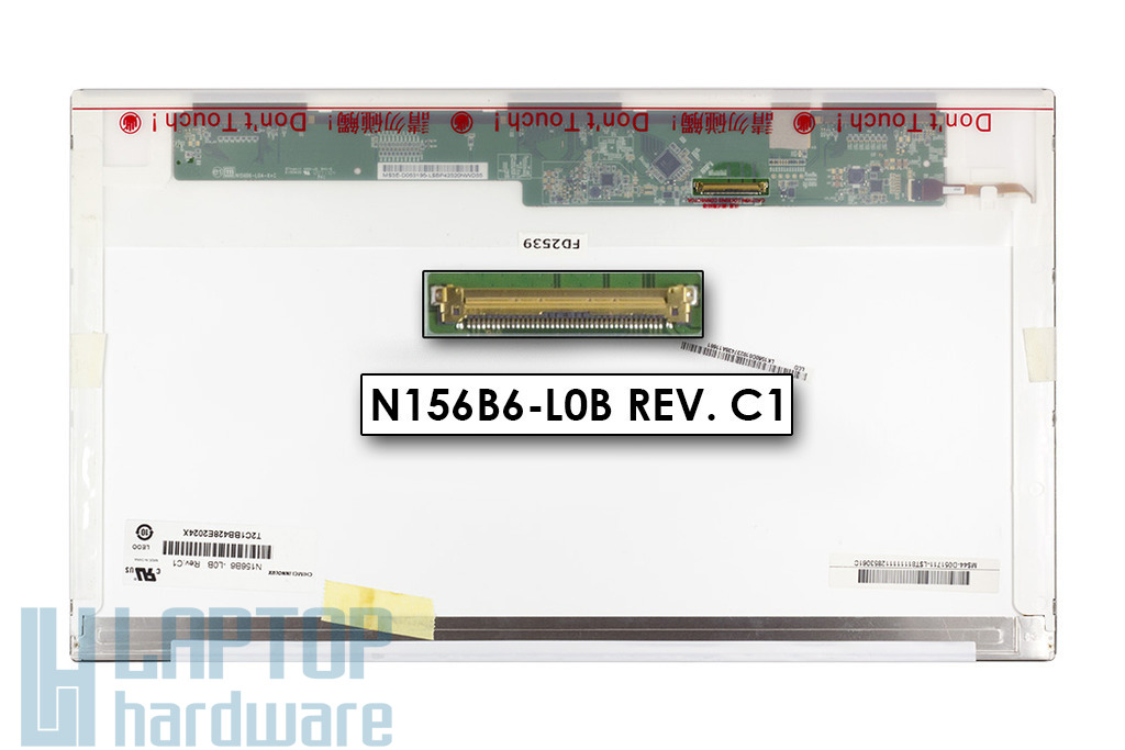 """Chi Mei N156B6-L0B 1366x768 15,6"""" HD LED használt fényes notebook kijelző"""