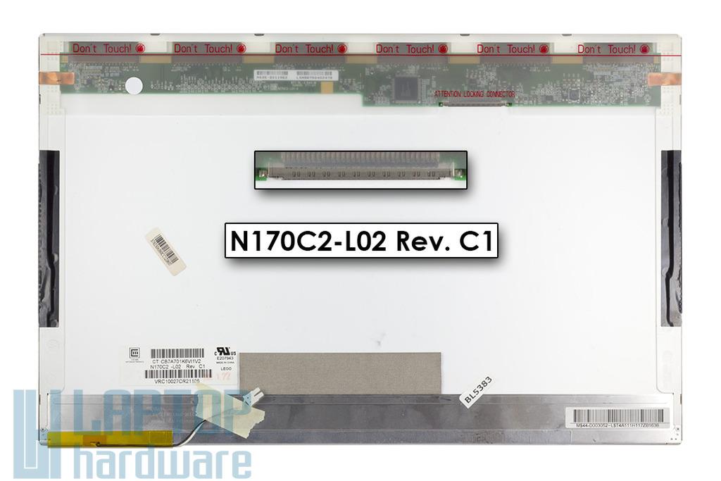 Chi-Mei N170C2-L02 17'' 1440x900 WXGA+ használt laptop kijelző