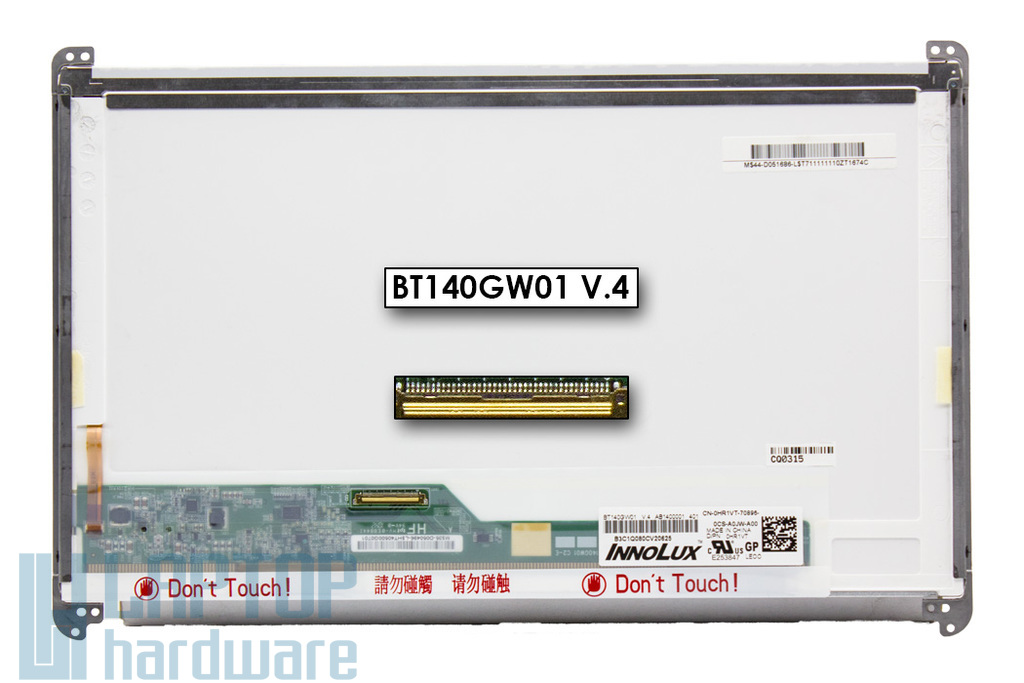 CHIMEI Innolux BT140GW01 V.4 használt fényes 14.0'' HD (1366x768) LED laptop kijelző (csatlakozó: 40 pin - bal alul)
