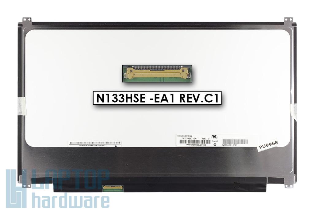 Gyári új matt 13.3'' Full HD (1920x1080) LED laptop Slim kijelző (csatlakozó: 30 pin - bal)