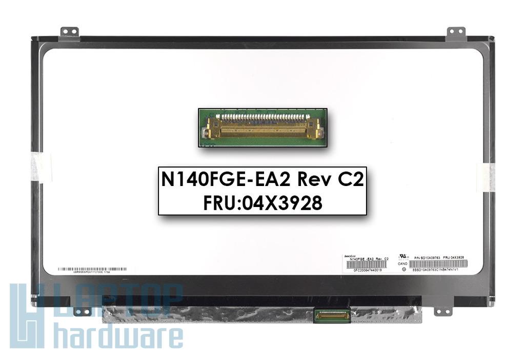 Gyári új matt 14.0'' HD+ (1600x900) LED eDP laptop Slim kijelző (csatlakozó: 30 pin - jobb)