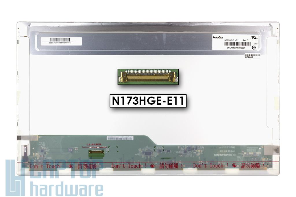 Használt matt 17.3'' Full HD (1920x1080) LED laptop kijelző (csatlakozó: 30 pin - bal)