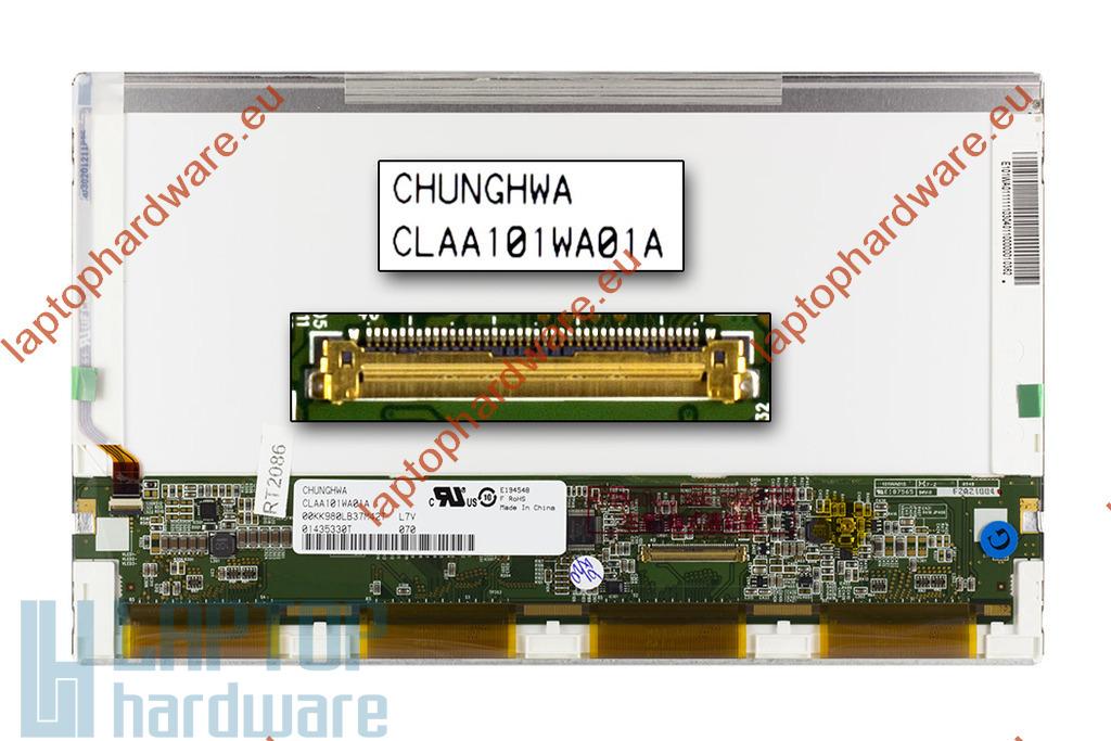 Gyári új matt 10.1'' (1366x768) HD LED laptop kijelző (csatlakozó: 40 pin - jobb)