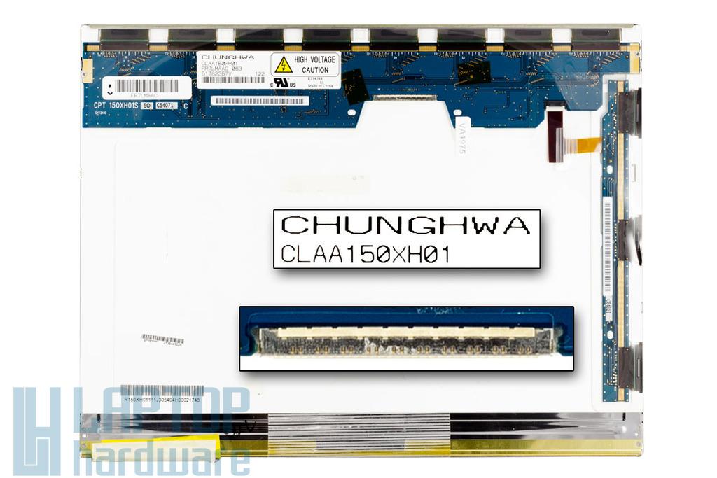 Chunghwa CLAA150XH01 15'' XGA használt matt laptop kijelző