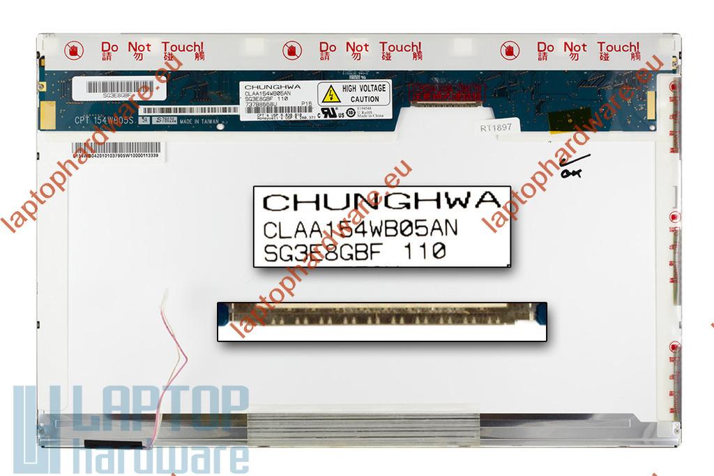 Chunghwa CLAA154WB05AN WXGA 1280x800 használt B kategóriás fényes  laptop kijelző