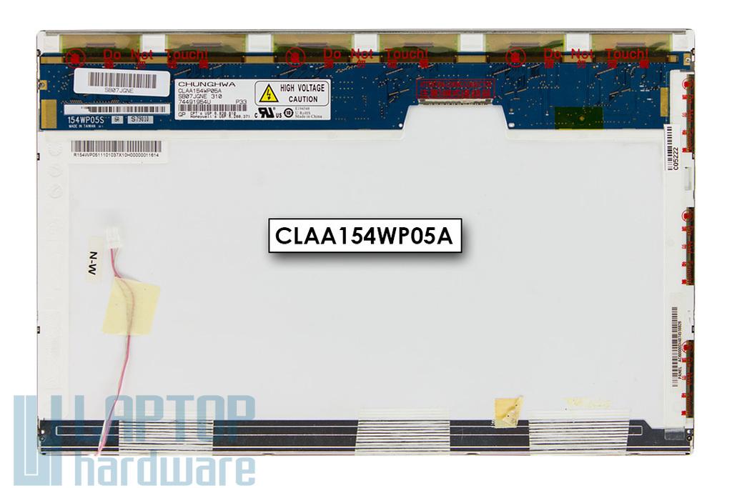 Chunghwa CLAA154WP05A használt fényes 15.4'' WXGA+ HD (1440x900) CCFL laptop kijelző (csatlakozó: 30 pin - jobb felül)