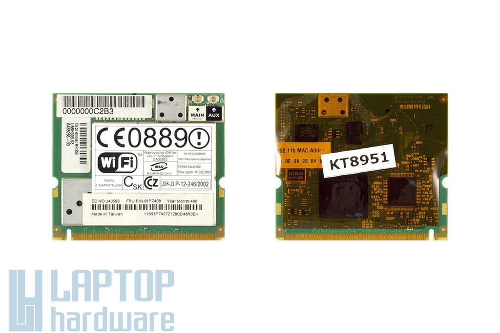 Cisco használt Mini PCI WiFi kártya IBM laptophoz (91P7408)