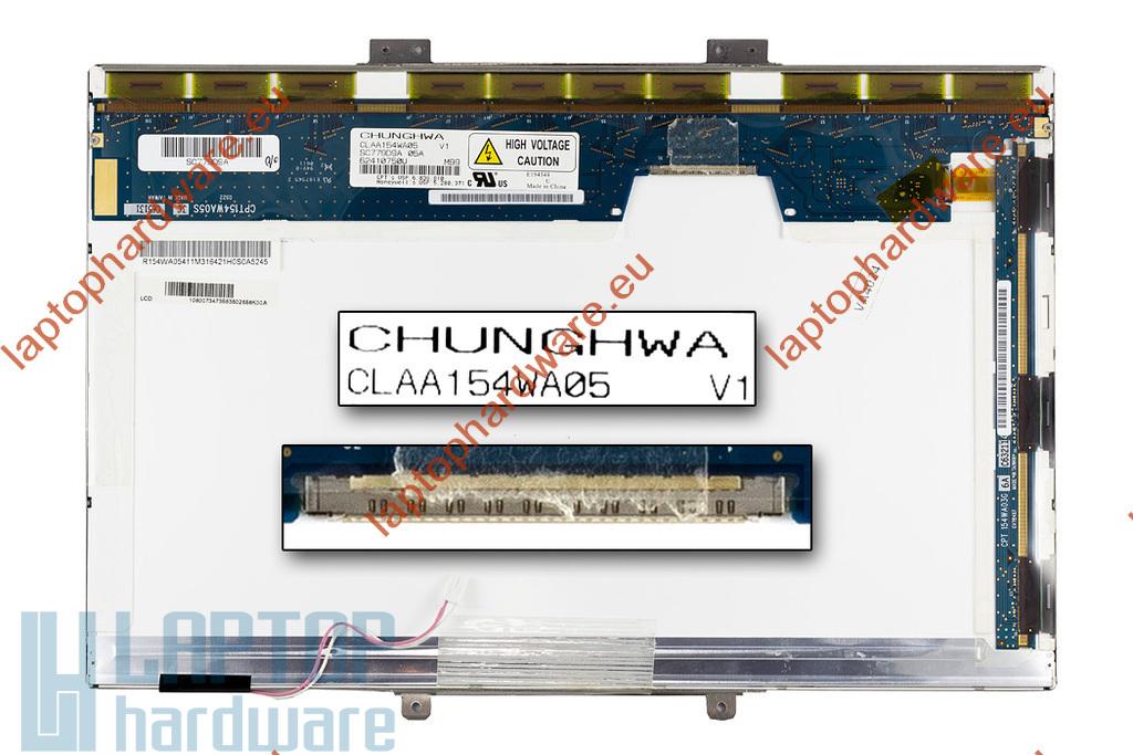 """CLAA154WA05AN 15.4"""" WXGA CCFL használt B Kategóriás matt laptop kijelző"""