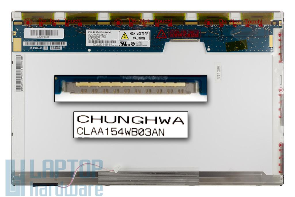 Chunghwa CLAA154WB03AN 15,4 inch CCFL WXGA 1280x800 használt fényes laptop kijelző