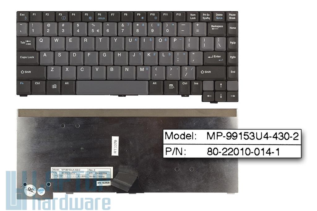 Clevo D27, D27ES használt angol laptop billentyűzet (MP-99153U4-430-2)