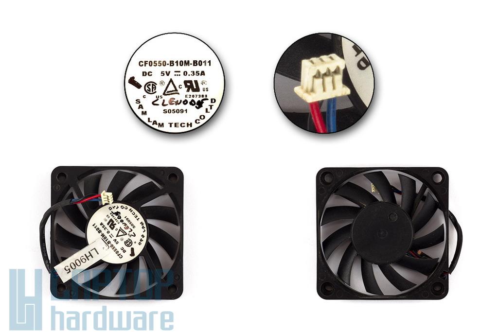 Clevo D9T, D900T, D9000T használt laptop hűtő ventilátor (CF0550-B10M-B011)