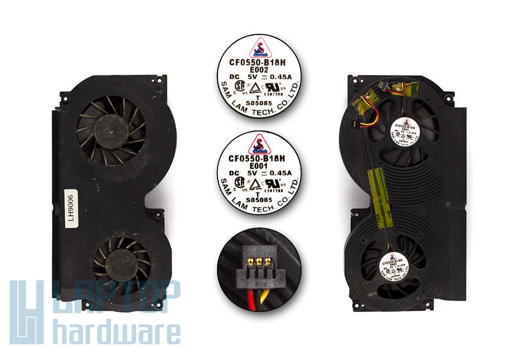 Clevo D9T, D900T, D9000T használt laptop hűtő ventilátor (CF0550-B18H -E001, -E002)
