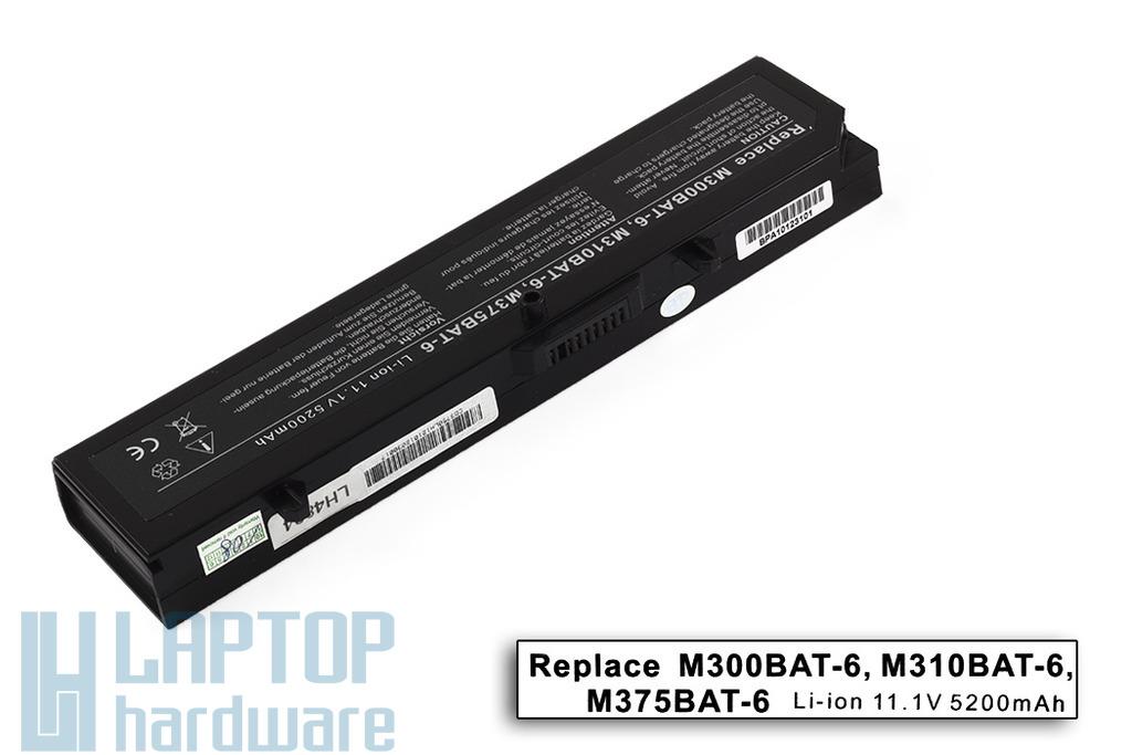 Clevo M300, M300N, M37EW helyettesítő új 6 cellás laptop akku/akkumulátor (M300BAT-6)