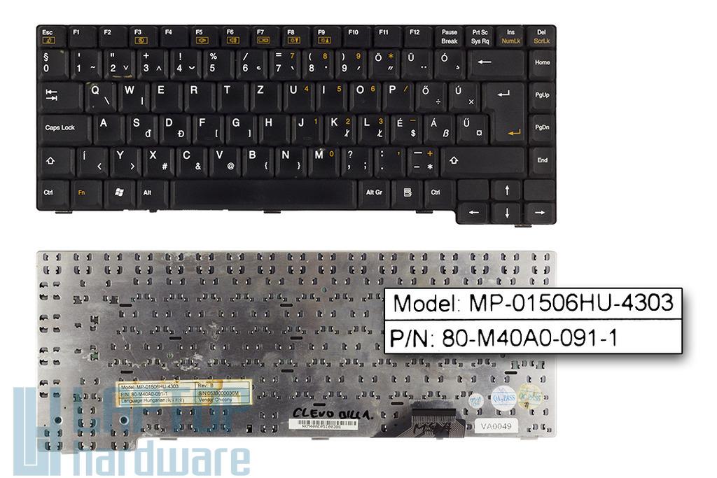 Clevo M4A, M40A használt magyar laptop billentyűzet (MP-01506HU-4303)