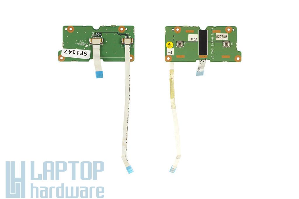 Clevo M66N laptophoz használt touchpad gomb panel kábellel (6-71-M66N2-D02)