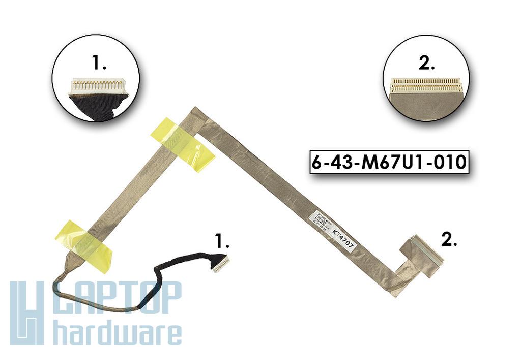 Clevo M670SU laptophoz használt LCD kábel(6-43-M67U1-010)