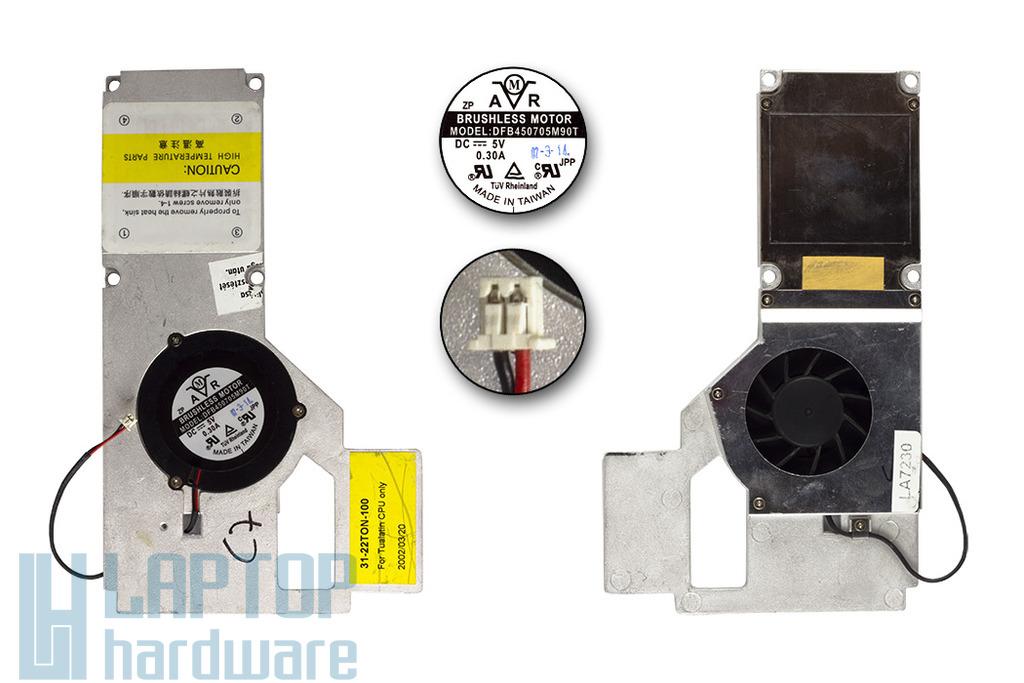Clevo, Portocom 2200T, 2300T, 2700T használt laptop hűtő ventilátor (31-22TON-100)