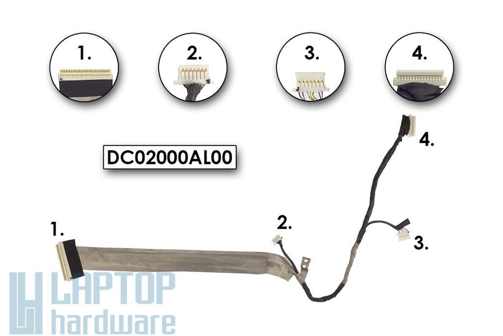 Compal EL80 használt LCD átvezető kábel, DC02000AL00