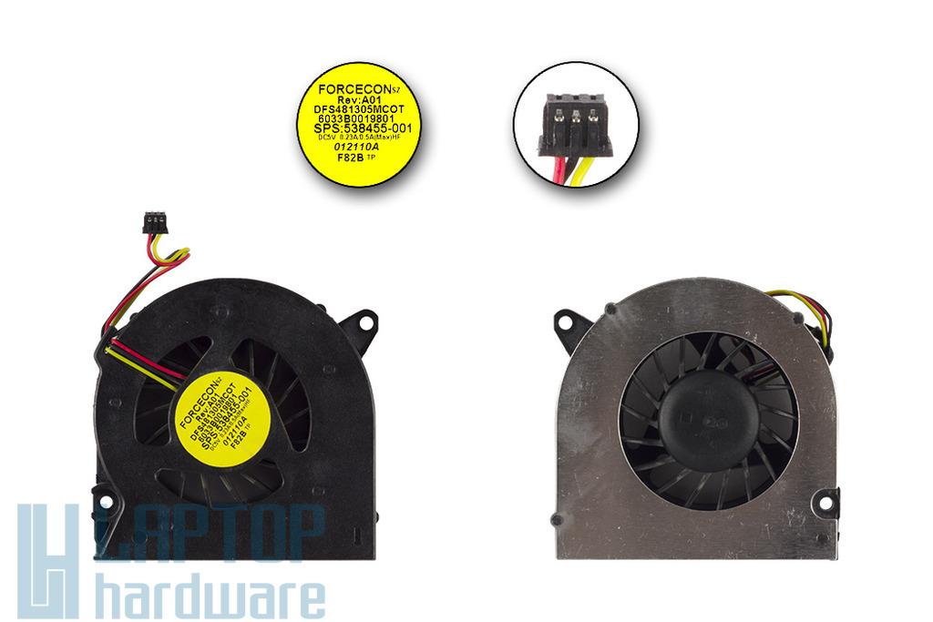 Compaq 510, 511, 515, 516, 610, 615 használt laptop hűtő ventilátor (538455-001)
