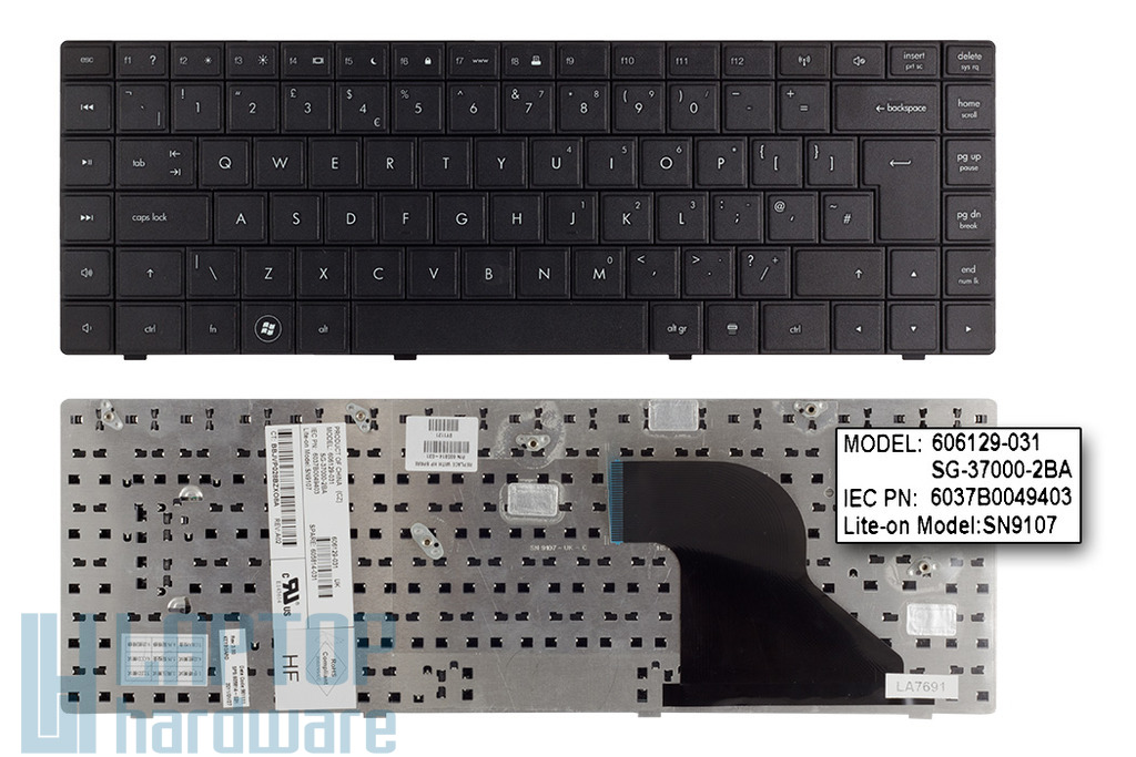 Compaq 620, 621, 625 gyári új angol laptop billentyűzet (SPS 605814-031)