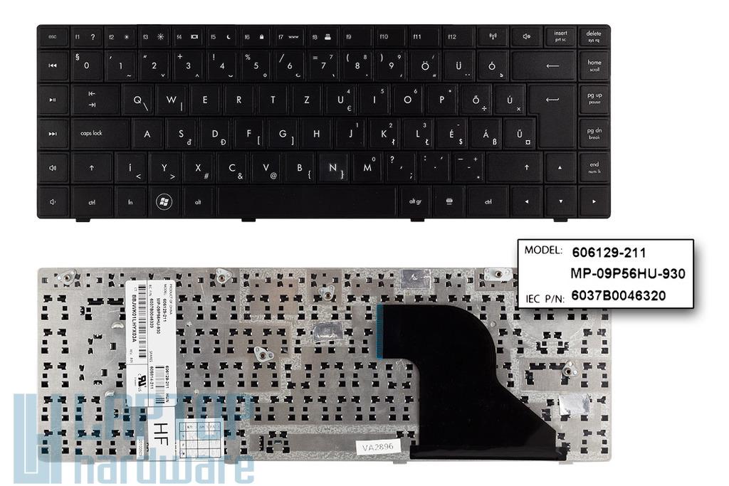 Compaq 620, 621, 625 gyári új magyar laptop billentyűzet (SPS 605814-211)
