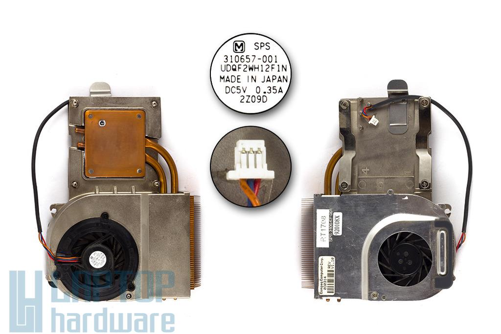 Compaq 800, Presario 3000 használt komplett laptop hűtő ventilátor egység (310647-001)