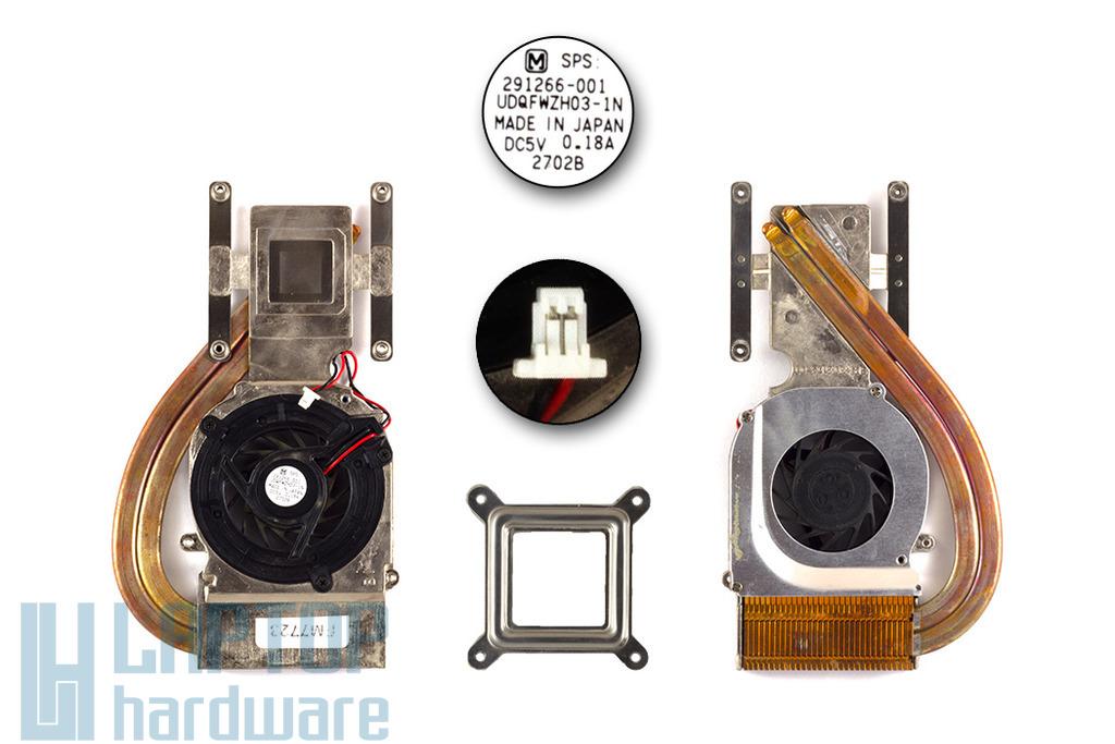Compaq Evo N610C, N620C laptophoz használt komplett hűtő ventilátor egység (SPS: 303103-001)