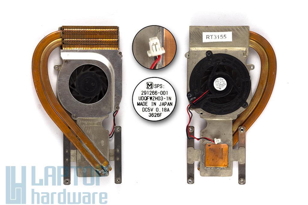 Compaq Evo N610v laptophoz használt komplett hűtő ventilátor egység (321431-001)