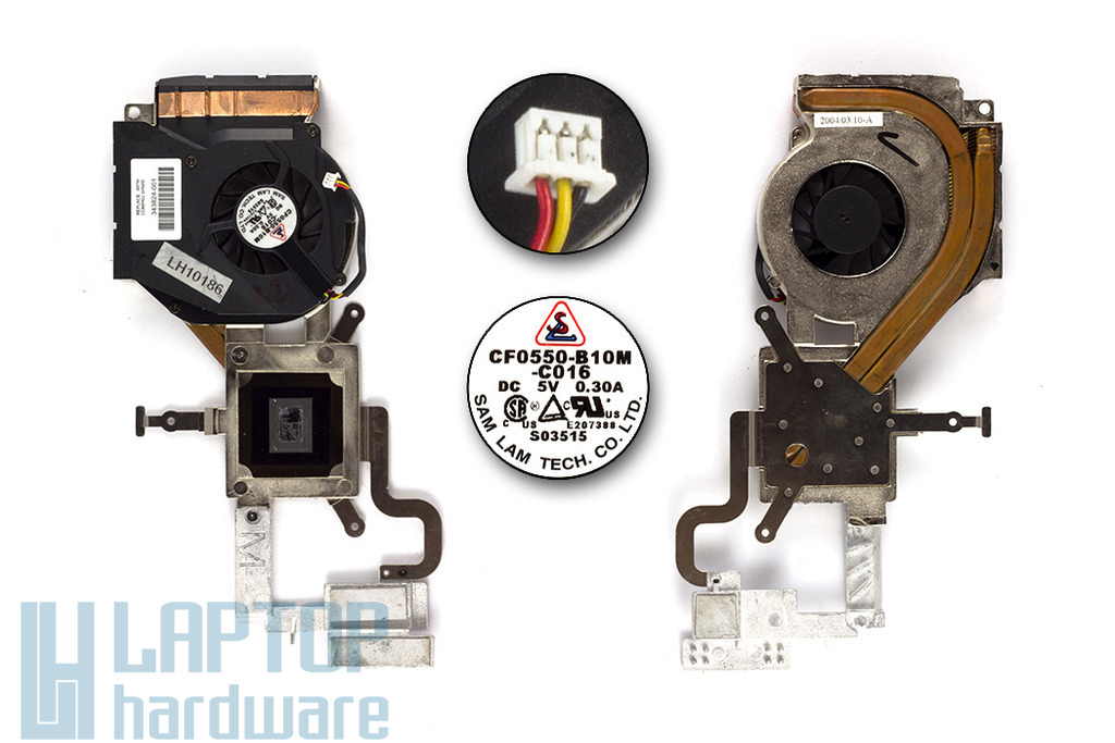 Compaq Presario 2100 (AMD), Compaq nx9000, HP Pavilion ze4200, ze5200, ze5700 használt komplett laptop hűtő ventilátor (343824-001)