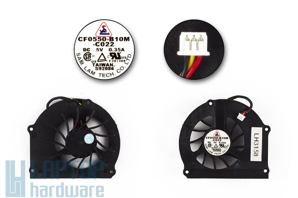 Compaq Presario 2100, Compaq nx9008, HP Pavilion xt500, ze5000, ze5700 használt laptop hűtő ventilátor (CF0550-B10M-C022)