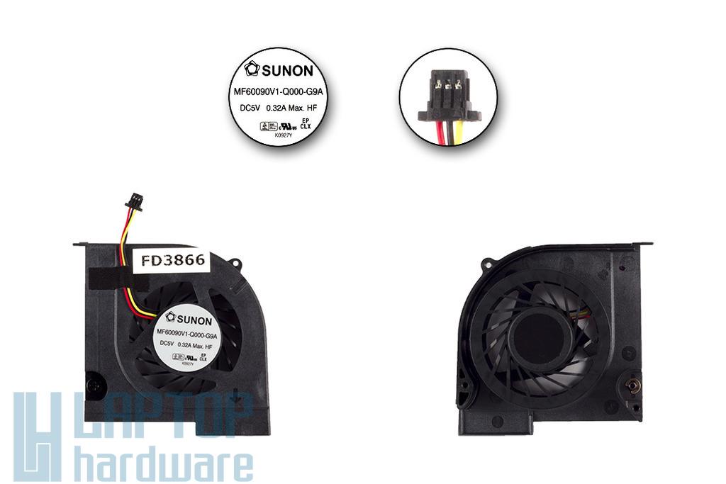 Compaq Presario CQ32, HP Pavilion DV3-4000 gyári új hűtő ventilátor, MF60090V1-Q000-G9A