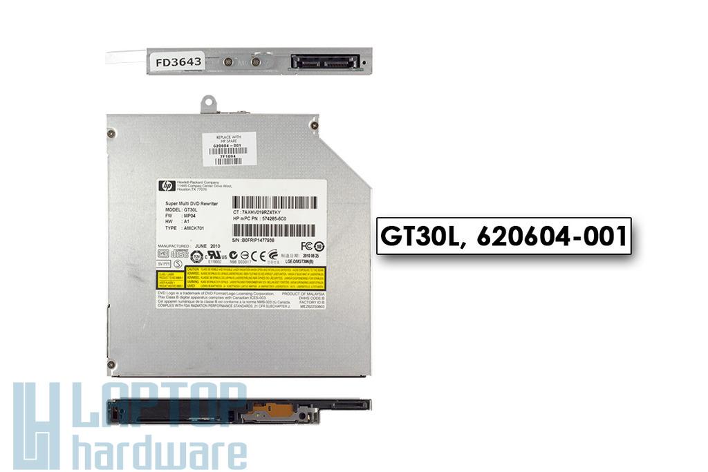 Compaq Presario CQ56, HP G56 használt notebook DVD Író GT30L, 620604-001
