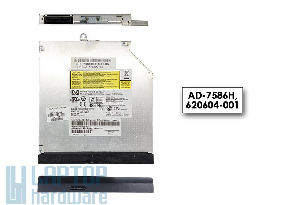 Compaq Presario CQ56, HP G56 használt notebook DVD Író előlappal (AD-7586H, 620604-001)