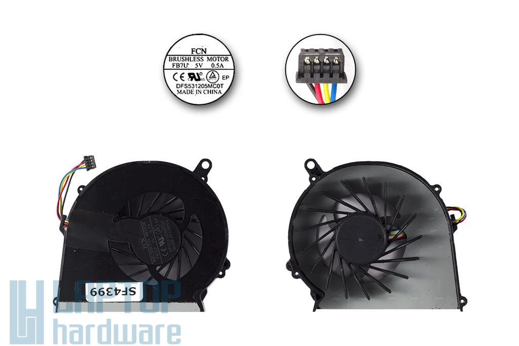 Compaq Presario CQ58, HP G58 gyári új laptop hűtő ventilátor (DFS531205MC0T)