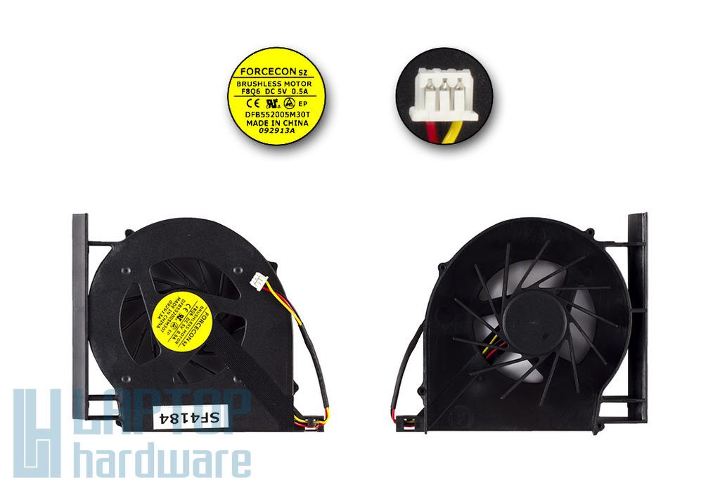 Compaq Presario CQ61, CQ71, HP G61, G71 gyári új laptop hűtő ventilátor (DFB552005M30T, F8Q6)