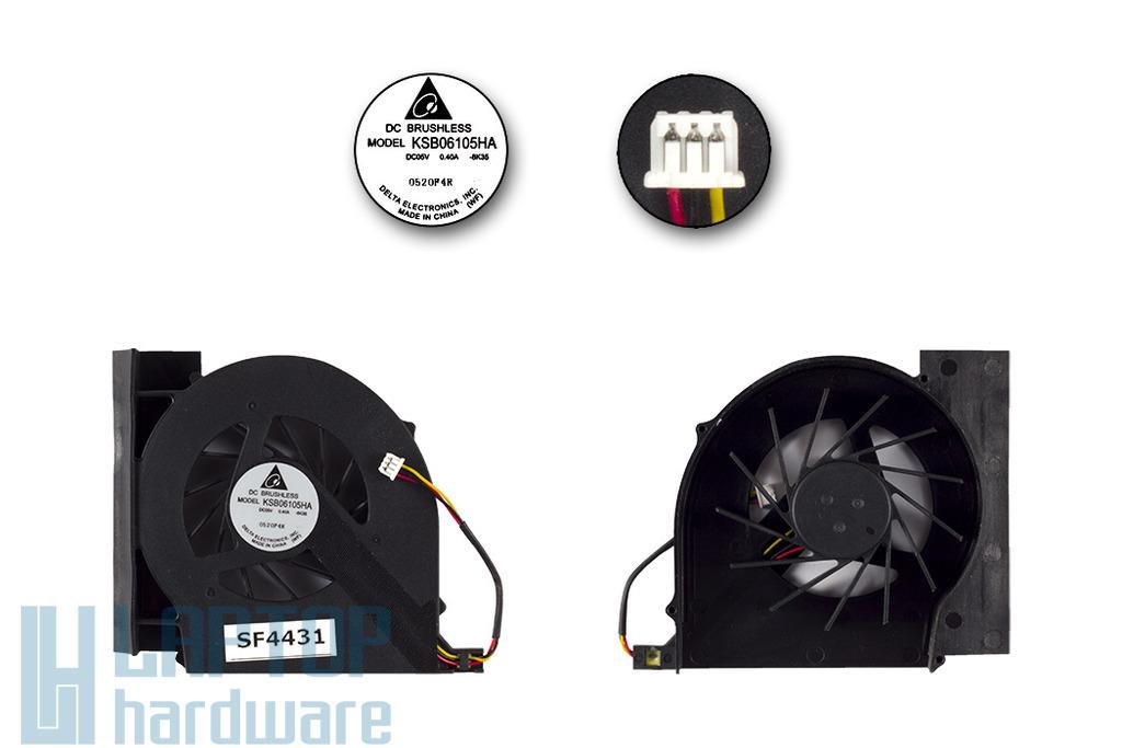 Compaq Presario CQ61, CQ71, HP G61, G71 gyári új laptop hűtő ventilátor (KSB06105HA)