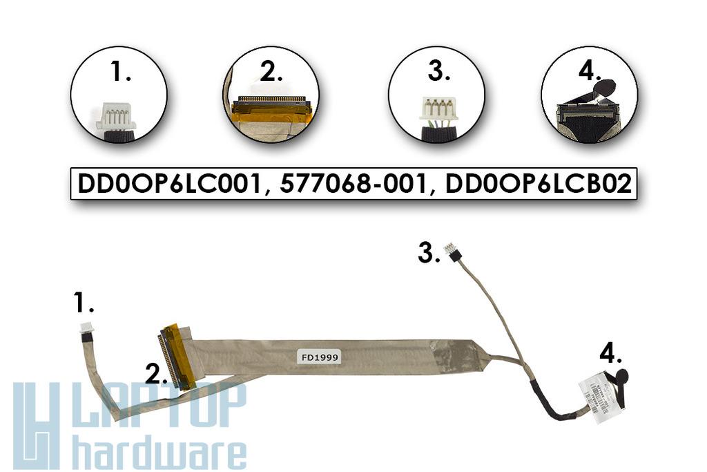 Compaq Presario CQ61, HP G61 laptophoz használt CCFL LCD kijelző kábel (583115-001)