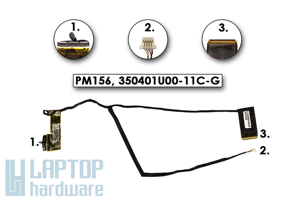 Compaq Presario CQ62, HP G62 használt LCD kábel (LED) (PM156, 350401U00-11C-G)