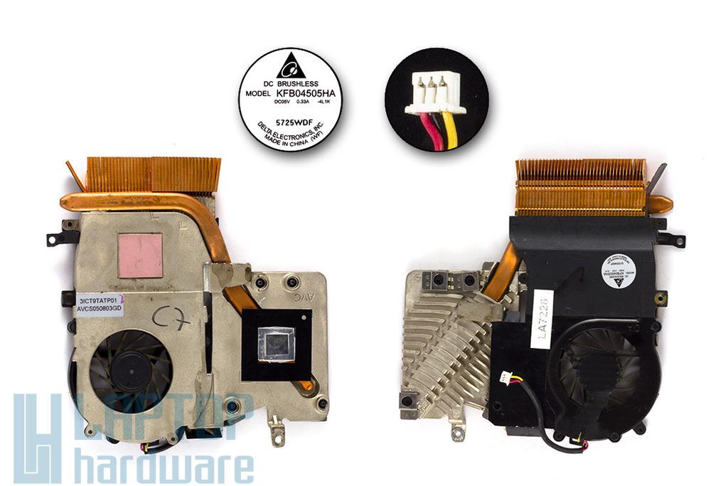 Compaq Presario M2000, V2000 használt laptop hűtő ventilátor (KFB04505HA)